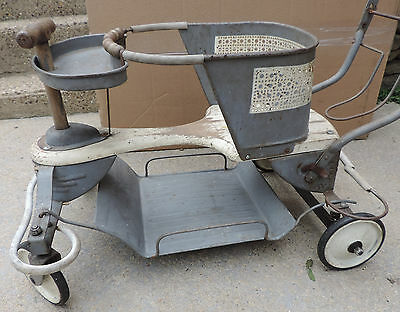 Vintage 1950's Taylor Tot baby stroller/carriage/buggy great patina