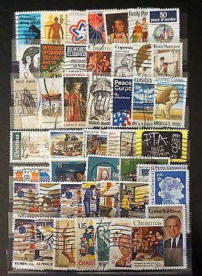 United States GREAT LOT of *47*   6-cent & 8-cent COMMEMORATIVE STAMPS  used