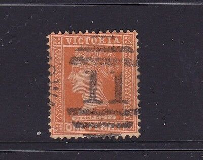*VICTORIA.POSTMARKS on 1d BROWN QV.Numeral 11 of Williamstown.*