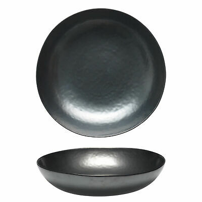 12x Tablekraft Vilamoura Metallic Graphite Round Share Bowl 300x75mm