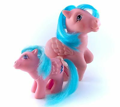 G1 My Little Pony Firefly & Baby Firefly Set Pair Lot Original 1983 Vintage 80s