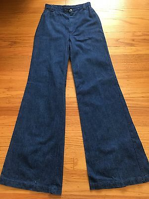 Vintage 70s DITTO Denim Bell Bottom Denim Jeans Woman High Waisted Extra Small