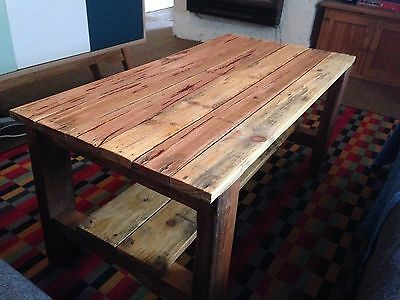 Recycled Timber Coffee Table Solid Hard Wood Rustic Reclaimed Large