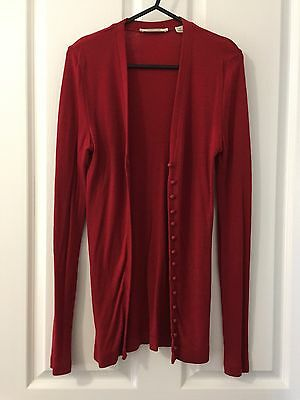 Country Road Women's Wool Cardigan Size S Red