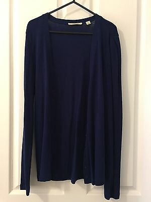 Country Road Women's Wool Cardigan Size S Blue