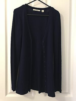 Country Road Women's Wool Cardigan Size S Navy
