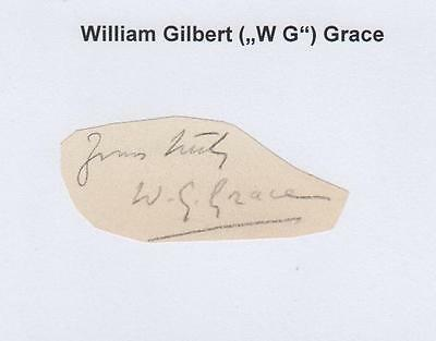 """William Gilbert """"W. G."""" Grace (†1915) England Test Player 8 Tests - very rare"""