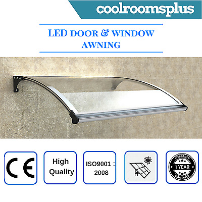 LED Window Door Awning Canopy Patio UV Rain Cover Outdoor Sun Shield