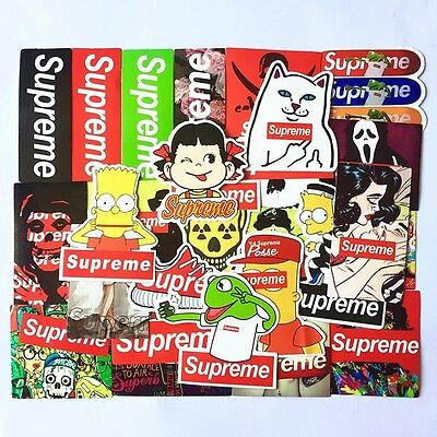 25Pcs Vinyl Stickers Supreme Snowboard Luggage Car Laptop Waterproof Superme New