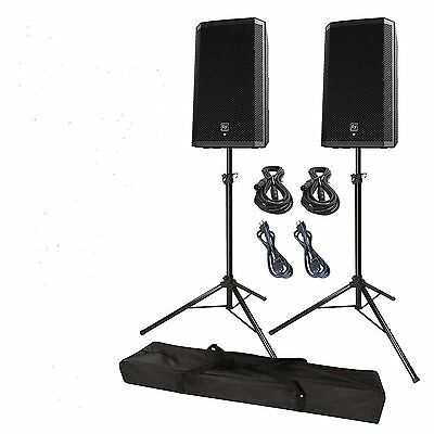 Ev Zlx15 Powered Speaker Pack 2000 Watts Bonus Stand And Covers 5 Yr Wty