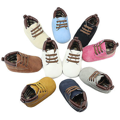 Fashion Baby Boy Girl Infant Toddler Shoes Prewalker Soft Sole Baby Shoes 0-18M