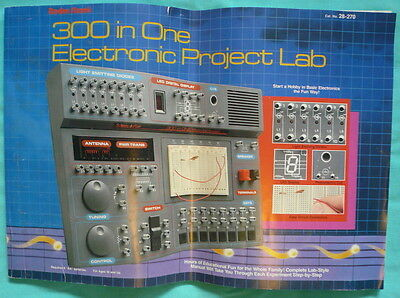 300 in One Electronic Project Lab 28-270 Radio Shack Science Fair ( Book Only)