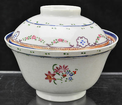 Antique  Earlty 19th Century Chinese Export Porcelain Large Gaiwan Covered Bowl