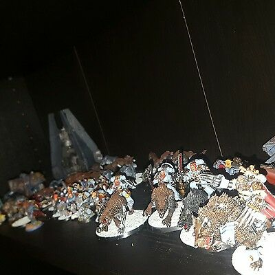 warhammer 40k large well painted space wolves army lot. some items sold