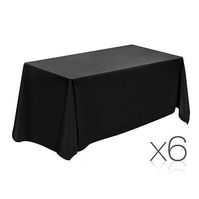 NEW 244cm Black 6x Wedding Home Party Banquet Table Cloth Tablecloth Rectangle