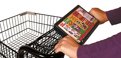 Grocery Cart Ad/Information Holders - Impressions Media and Advertisement