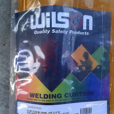 Wilson 14 mil Gold-Colored Welding Curtain - 4' H, 6' W - 3018911 - 4624-50