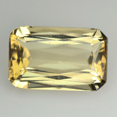 Rare Gemstone Natural Unheated Yellow Scapolite 3.13 Ct Octagon Cut