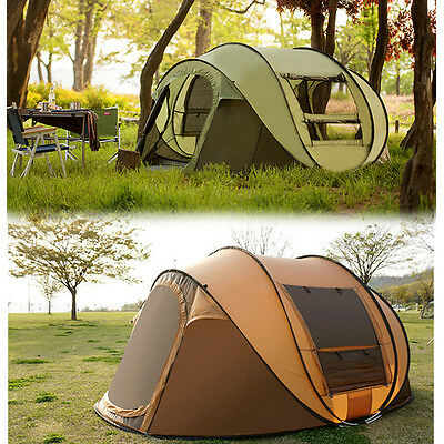 5-6 Person Large Camping Pop Up Tent Waterproof Automatic Outdoor Hiking Tent