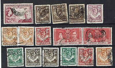 Northern Rhodesia   Stamps  - small mixed used collection