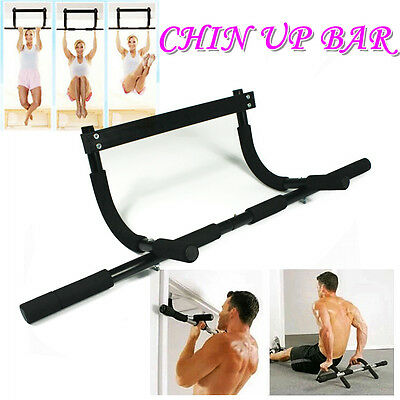 New Gym Chin Up Portable Bar Home Door Pull Up Doorway Exercise Workout Fitness