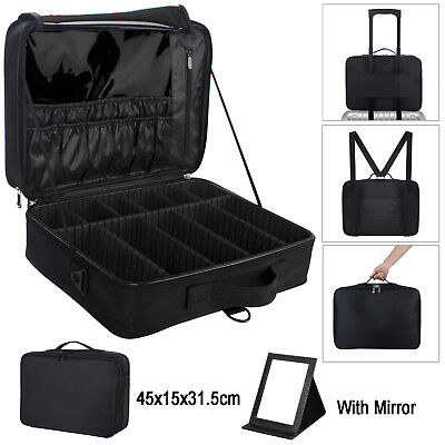 Professional Makeup Case Cosmetic Bag Storage Box Travel Carry Beauty Organiser