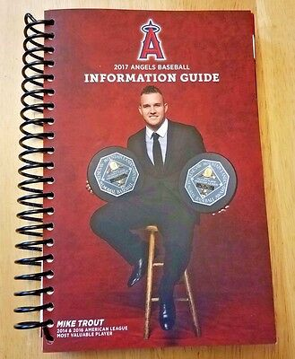 2017 Los Angeles Angels Of Anaheim Spiral Media Guide!! 2016 Al Mvp! Hot!! New!!