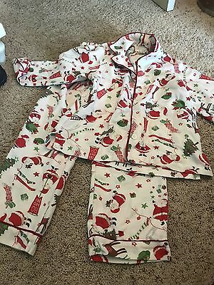 Pottery Barn Kids Santa Flannel Pajama Set