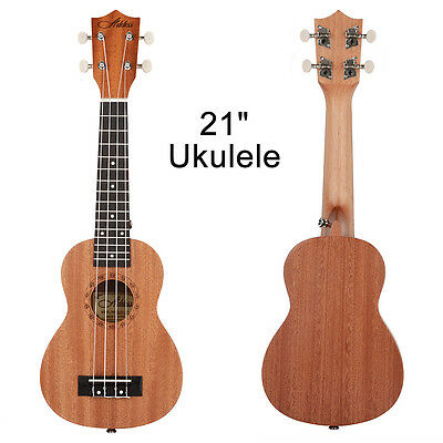 "Wood 21"" 15 Frets Hawaiian Guitar Musical Instrument Sapele Ukulele Gift"
