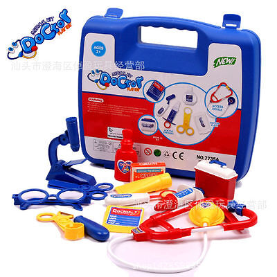 Kids Children Pertended Doctor's Nurse Medical Play Set Carry Case Toy gifts nn