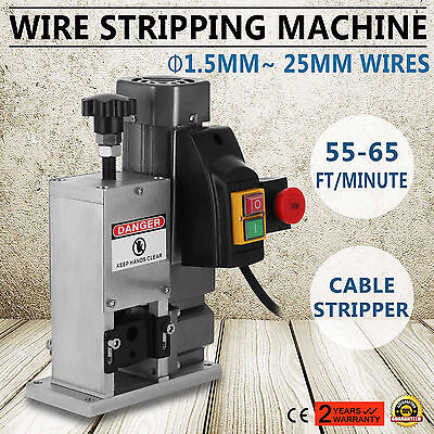 Powered Electric Wire Stripping Machine 1.5-25mm Scrap 180W Industrial GOOD