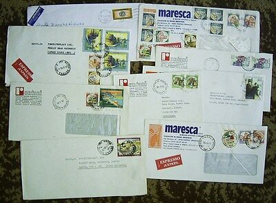 ITALY COMMERCIALLY USED COVERS x 8