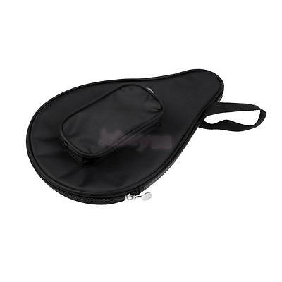 Portable Table Tennis Racket Ping Pong Paddle Bat Bag Pouch with Ball Case