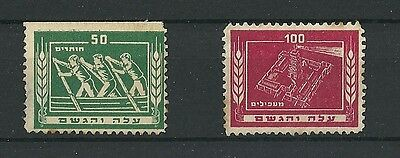 PALESTINE ISRAEL STAMPS LABEL HaNoar HaOved RARE !
