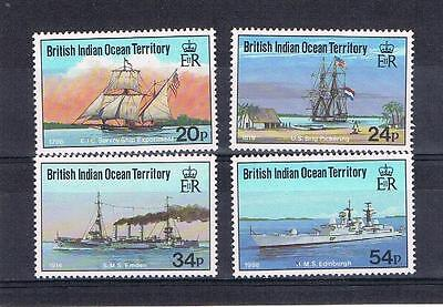 british indian ocean territory 1991 visiting ships u/m set