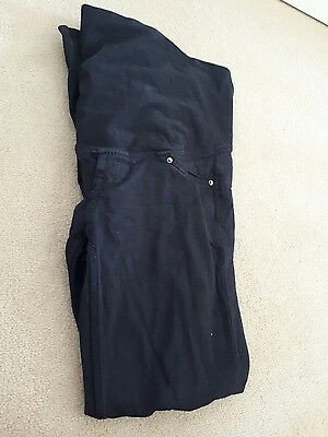 h&m mama jeans size 10, black, skinny, over bump