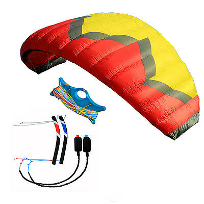 Professional 5m² 4-Line Power Traction Kite with Flying Tool for Paragliding Set