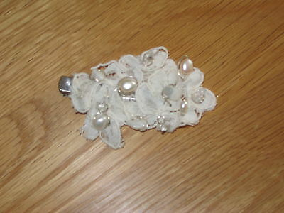 Vintage Lace and Pearl Hair Clip - Brand New