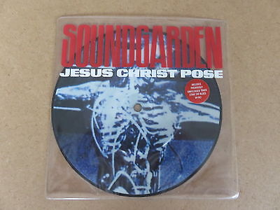 "SOUNDGARDEN Jesus Christ Pose A&M RARE 1992 UK ORIGINAL 7"" PICTURE DISC AM862"