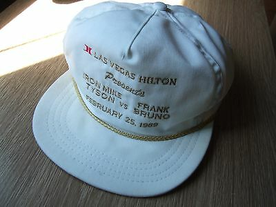 Iron Mike Tyson vs Frank Bruno Las Vegas Hilton 1989 Fight Baseball Cap Hat RARE
