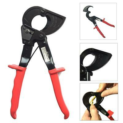 New 240mm² Electrical Ratchet Wire Line Cable Cutter Plier Cutting Hand Tool Red