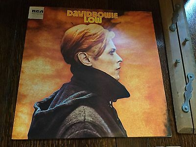 DAVID BOWIE LOW LP Vinyl Early First 1st 1977 UK BLACK LABEL Sticker, Insert