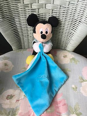 Nicotoy Mickey Mouse Comforter Comfort Blanket Blankie Soft Hug Toy Soother