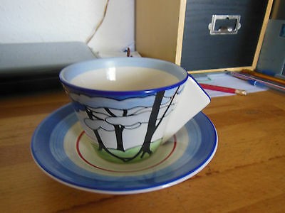 """Clarice Cliff Cup 7 Saucer """"centenary """" by Wedgwood"""