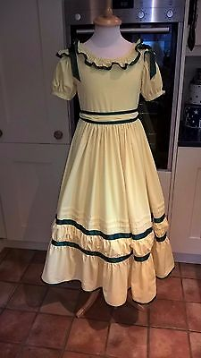 "Girl's Victorian dress (copy), with bonnet, excellent condition, 28-30"" chest"