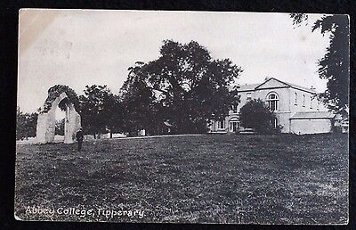 Nice Vintage Postcard Abbey College, Tipperary With Nice Postmark 1917