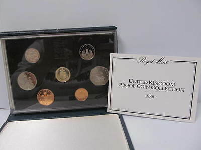 Royal Mint Proof UK Coin Collection 1988 Coins Set Boxed
