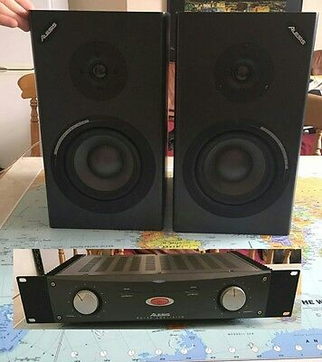Alesis M1 mk2 passive Studio Monitors with Alesis RA150 power amp