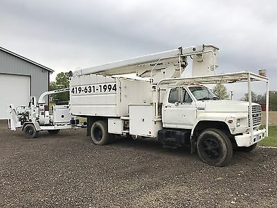 "60' Bucket Truck W/dump AND 12"" Wood Chipper"