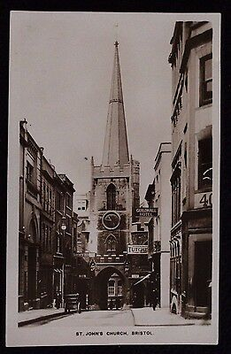 Nice Vintage Real Photo Postcard St John's Church, Bristol